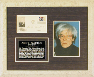 ANDY WARHOL - FIRST DAY COVER SIGNED