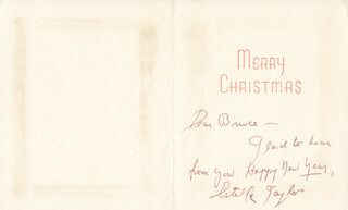 ESTELLE TAYLOR - CHRISTMAS / HOLIDAY CARD SIGNED