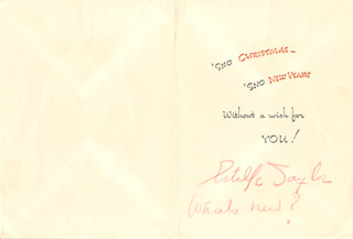 ESTELLE TAYLOR - CHRISTMAS / HOLIDAY CARD SIGNED 12/20/1950