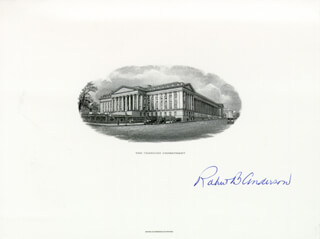 ROBERT B. ANDERSON - ENGRAVING SIGNED
