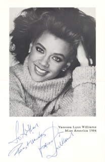 VANESSA L. WILLIAMS - AUTOGRAPHED INSCRIBED PHOTOGRAPH