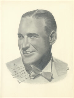Autographs: HORACE HEIDT - INSCRIBED ILLUSTRATION SIGNED CIRCA 1942 CO-SIGNED BY: DOROTHY A. AHRENS