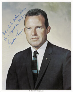 COLONEL GORDON COOPER JR. - AUTOGRAPHED INSCRIBED PHOTOGRAPH