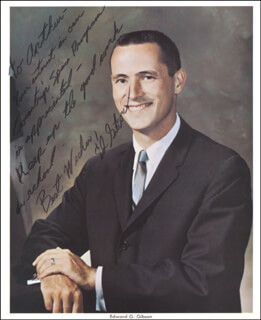 EDWARD G. GIBSON - AUTOGRAPHED INSCRIBED PHOTOGRAPH