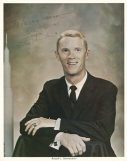 RUSTY SCHWEICKART - AUTOGRAPHED INSCRIBED PHOTOGRAPH
