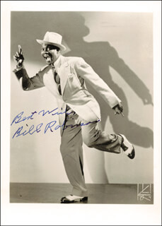 BILL BOJANGLES ROBINSON - AUTOGRAPHED SIGNED PHOTOGRAPH