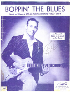 CARL LEE PERKINS - SHEET MUSIC SIGNED