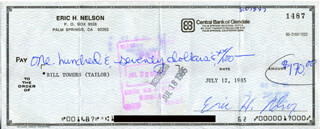 RICK NELSON - AUTOGRAPHED SIGNED CHECK 07/12/1985
