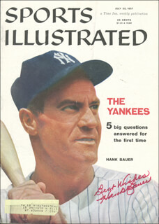 HANK BAUER - MAGAZINE COVER SIGNED