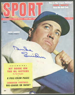 DUKE SNIDER - MAGAZINE COVER SIGNED