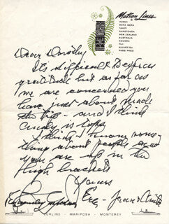 ERLE STANLEY GARDNER - AUTOGRAPH LETTER DOUBLE SIGNED