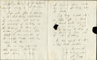 SIR HUMPHRY DAVY - AUTOGRAPH LETTER SIGNED 01/24/1822