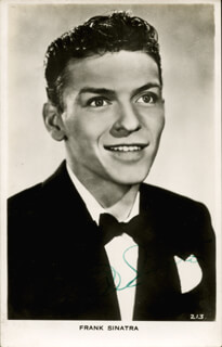 FRANK SINATRA - PICTURE POST CARD SIGNED