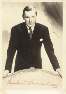 HERBERT MARSHALL - AUTOGRAPHED SIGNED PHOTOGRAPH