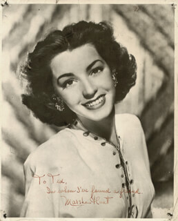 MARSHA HUNT - AUTOGRAPHED INSCRIBED PHOTOGRAPH