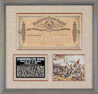 THE CONFEDERATE STATES - BOND SIGNED 03/01/1864 CO-SIGNED BY: E. APPERSON