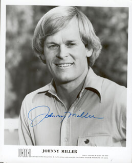 JOHNNY MILLER - AUTOGRAPHED SIGNED PHOTOGRAPH