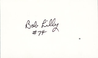 BOB LILLY - SIGNATURE(S)