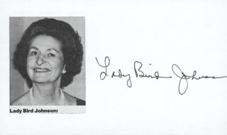FIRST LADY LADY BIRD JOHNSON - AUTOGRAPH  - HFSID 1088