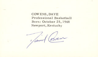 DAVE COWENS - PRINTED CARD SIGNED IN INK