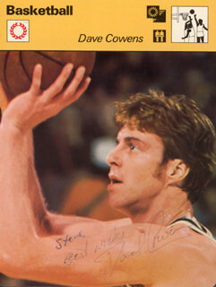 DAVE COWENS - AUTOGRAPHED INSCRIBED PHOTOGRAPH