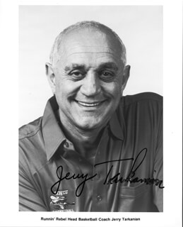 JERRY TARK THE SHARK TARKANIAN - PRINTED PHOTOGRAPH SIGNED IN INK