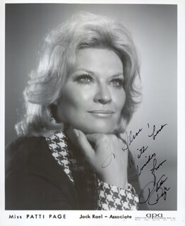 PATTI PAGE - AUTOGRAPHED INSCRIBED PHOTOGRAPH  - HFSID 1121