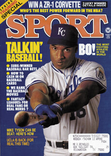 BO JACKSON - MAGAZINE COVER SIGNED