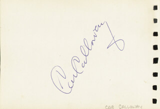 CAB CALLOWAY - AUTOGRAPH CO-SIGNED BY: BEBE DANIELS