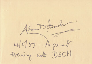 ALAN DUDLEY BUSH - AUTOGRAPH NOTE SIGNED 04/05/1967 CO-SIGNED BY: SEIJI OZAWA