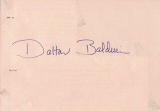 Autographs: DALTON BALDWIN - SIGNATURE(S) CO-SIGNED BY: RAYMOND OVENS