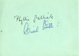 PHYLLIS SELLICK - AUTOGRAPH CO-SIGNED BY: DOUGLAS WHITTAKER, BRIAN CHAPPLE, BOB DENNIS, JOHN GASEIER, CYRIL JAMES SMITH