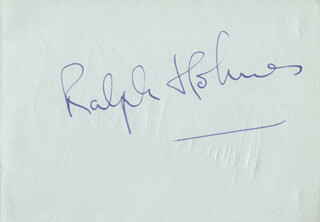 RALPH HOLMES - AUTOGRAPH CO-SIGNED BY: ALAN CIVIL, MARVIN SCHOFORD