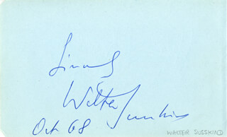 WALTER SUSSKIND - AUTOGRAPH SENTIMENT SIGNED 10/1968 CO-SIGNED BY: STEFAN ASKENASE