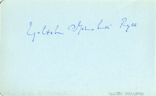 YALTAH MENUHIN RYCE - AUTOGRAPH CO-SIGNED BY: NORMA PROCTER