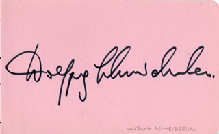 WOLFGANG SCHNEIDERHAN - AUTOGRAPH CO-SIGNED BY: WYNFORD EVANS, HAROLD LESTER