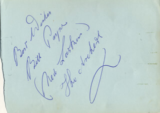 Autographs: ARCHERS RADIO CAST - SIGNATURE(S) CO-SIGNED BY: BILL PAYNE, MONTE CRICK, ANNE (ANN MACOMBER) CULLEN, PHILLIP MORANT