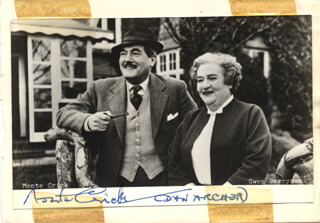 MONTE CRICK - AUTOGRAPHED SIGNED PHOTOGRAPH CO-SIGNED BY: GWEN BERRYMAN