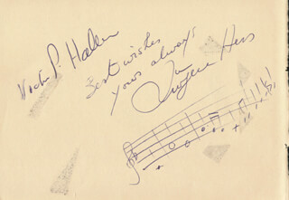 JURGEN HESS - INSCRIBED AUTOGRAPH MUSICAL QUOTATION SIGNED