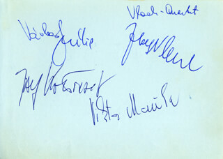 THE VLACH QUARTET - AUTOGRAPH CO-SIGNED BY: JOHN JOUBERT, JOSEF VLACH, JOSEF KODOUSEK, VIKTOR MOUCKA, VACLAV SNITIL