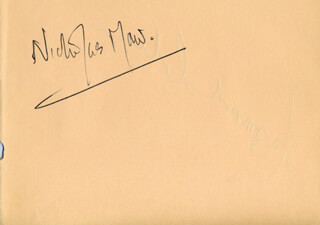 NICHOLAS MAW - AUTOGRAPH CO-SIGNED BY: RAYMOND COHEN