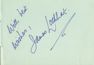 JAMES LOCKHART - AUTOGRAPH SENTIMENT SIGNED CO-SIGNED BY: RUDOLF KOLISCH, ELEANOR CATHERINE WARREN