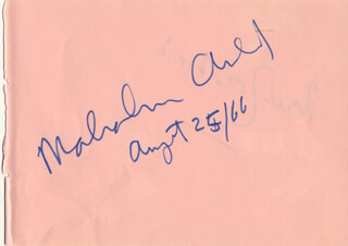 Autographs: SIR MALCOLM ARNOLD - SIGNATURE(S) 08/25/1966