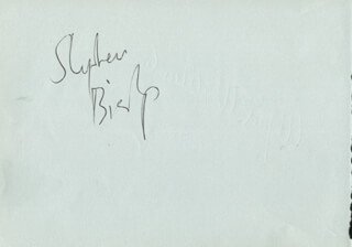 STEPHEN (EARL STEPHEN) BISHOP - AUTOGRAPH CO-SIGNED BY: ALFRED WALLENSTEIN