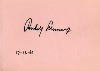 RUDOLF SCHWARZ - AUTOGRAPH 12/17/1966 CO-SIGNED BY: JOHN SHIRLEY-QUIRK