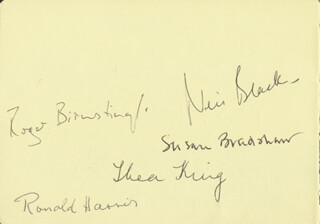 THEA KING - AUTOGRAPH CO-SIGNED BY: NEIL BLACK, SUSAN BRADSHAW, PAUL CROPPER