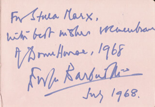 EVELYN BARBIROLLI - AUTOGRAPH NOTE SIGNED 7/1968 CO-SIGNED BY: JANET CRAXTON, GEORGINA DOBREE