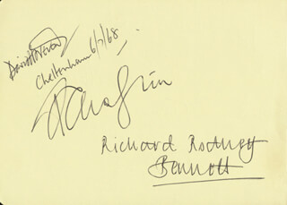 PHILIP JONES BRASS ENSEMBLE - AUTOGRAPH CO-SIGNED BY: RICHARD RODNEY BENNETT, PHILIP JONES BRASS ENSEMBLE (JOHN FLETCHER), PHILIP JONES BRASS ENSEMBLE (JOHN IVESON), PHILIP JONES BRASS ENSEMBLE (ELGIN HOWARTH), JOHN CONNOLLY