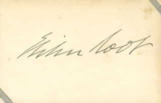 Autographs: ELIHU ROOT - SIGNATURE(S)