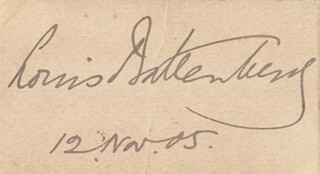 Autographs: ADMIRAL OF THE FLEET LOUIS PRINCE LOUIS OF BATTENBERG BATTENBERG - SIGNATURE(S) 11/12/1905